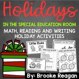 Holiday Math, Reading and Writing Activities