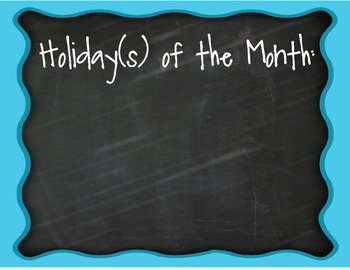 Holidays of the Month