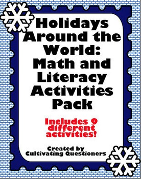 Holidays Around the World: Literacy and Math Center Activities Pack