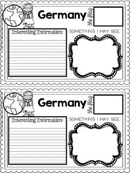 Holidays Around the World-Notebook, Passport, and crafts