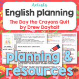 Thematic English planning for The Day the Crayons Quit