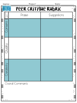 Generalized Product Rubrics and Peer Evaluation Tool