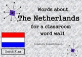 Holland The Netherlands Dutch Themed Word Wall Cards Projects