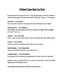 Holland Type Career Quiz Grades 3-6