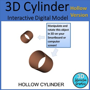Hollow Cylinder - 3D Shape for Whiteboards and Smartboards