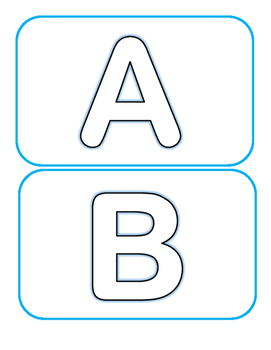 Freebie Hollow Letters ABC