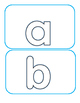 Freebie Hollow Letters abc
