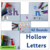 Hollow Letters complement Jolly Phonics | SASSOON Font