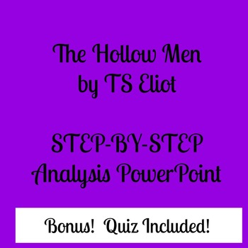 Hollow Men (Eliot) PowerPoint and Quiz