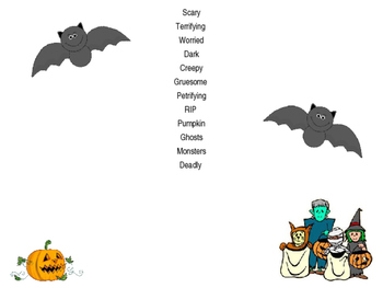 Holloween descriptive and creative writing