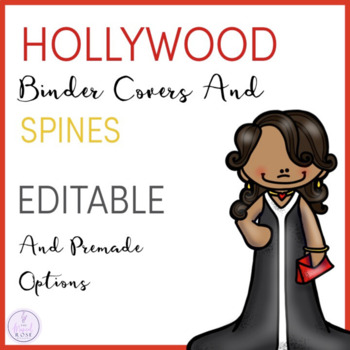 Hollwood Themed Music Teacher Binder Covers and Spines