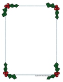 Holly Border, Christmas Border, Holly Frame, Christmas Frame