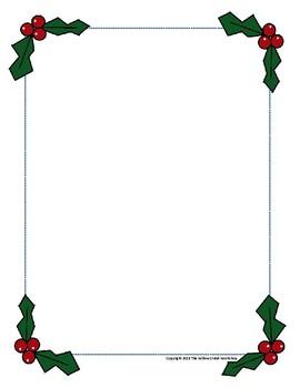 Christmas Frame.Holly Border Christmas Border Holly Frame Christmas Frame