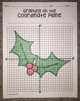 Holly (Graphing on the Coordinate Plane Mystery Picture)
