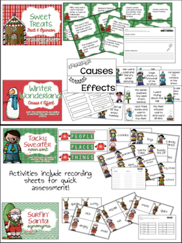 Holly Jolly Bundle: Christmas QR Codes and Literacy Centers for Daily Five