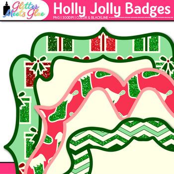 Holly Jolly Christmas Frame Clip Art: Christmas Graphics {Glitter Meets Glue}
