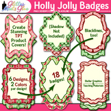 Holly Jolly Christmas Frame Clip Art {Labels for Task Card