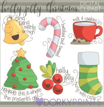 Holly Jolly Christmas Clipart