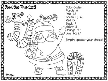 Holly Jolly Christmas Color by Product Freebie