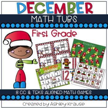 Holly Jolly Christmas: December Math Centers (CCSS & TEKS