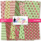 Holly Jolly Christmas Clip Art {Scrapbook Background for Task Cards & Brag Tags}