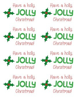"Holly ""Jolly"" Christmas Gift Tags"