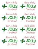 "Holly ""Jolly"" Christmas Gift Tags"