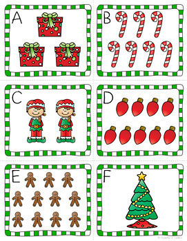 Christmas Math and Literacy Centers for Pre-K and Kindergarten