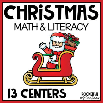 Christmas Math and Literacy Centers for Pre-K and Kindergarten {BUNDLE}