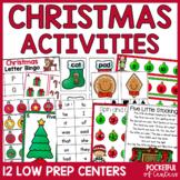 Christmas Centers: Math & Literacy Activities for Pre-K & Kindergarten BUNDLE