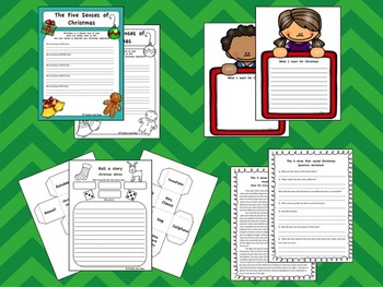 Holly Jolly Christmas - Reading and Writing Worksheets