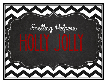 Holly Jolly- Christmas Theme Word List English & French