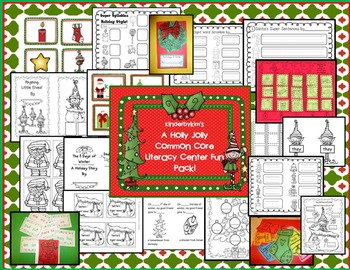 Holly Jolly Common Core Literacy Center Fun Pack!