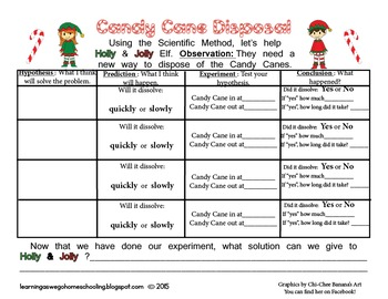 Holly & Jolly Elf- Science Experiment - Candy Cane Disposal