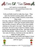 Holly & Jolly Elves - Practicing Plurals Worksheet