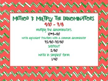 Holly Jolly Fractions- Adding and Subtracting Fractions with Unlike Denominators