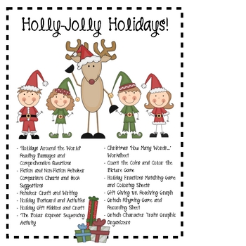 Holly Jolly Holidays! Cross-Curricular ways to Celebrate the Season