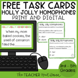 Free Holly Jolly Homophone Task Cards | Homophones