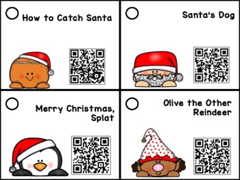 Holly Jolly Listen to Reading Center: 20 QR Code Christmas Stories