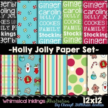 Holly Jolly Paper Set 12x12