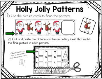 Christmas Math Center - Patterning FREEBIE!