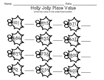 Holly Jolly Place Value