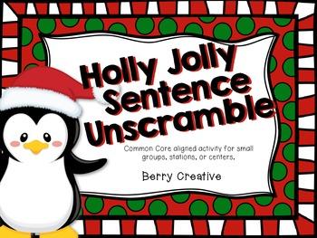 Holly Jolly Sentence Unscramble