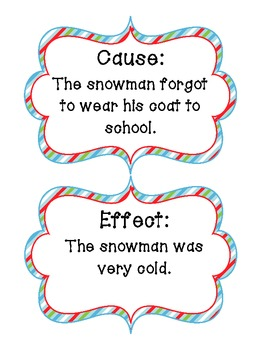 Holly Jolly Snowman Cause & Effect Matchup
