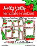 FREE Holly Jolly Templates [Ashley Hughes Design]