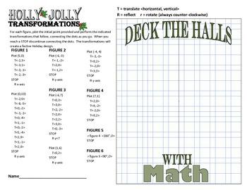 Holly Jolly Transformations: Holiday Wreath Translation, Reflection & Rotation