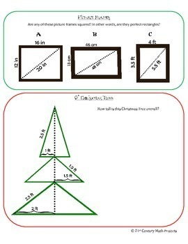 Holly Jolly Trig -- Pythagorean Theorem & Distance - 21st Century Math Project