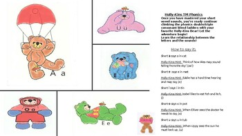 Holly-Kins Bears (TM) Double/Triple Consonant Phonics Blend Ladders