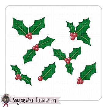 Holly Leaf Clip Art
