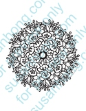 Holly Musical Mandala Coloring Page